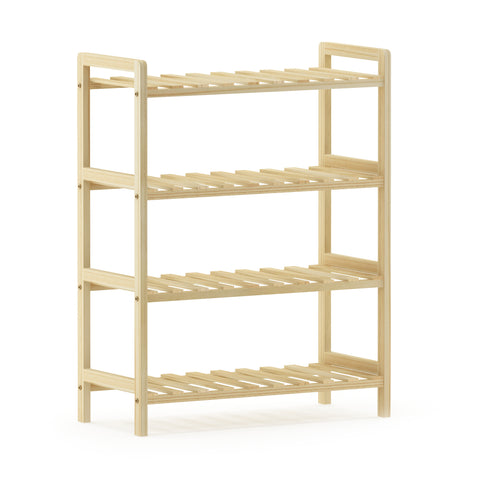 Furinno Pine Solid Wood 2-Tier Shoe Rack FNCJ-33042N