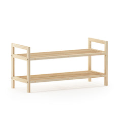 Furinno Pine Solid Wood 2-Tier Shoe Rack FNCJ-33043N