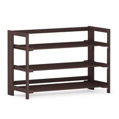 Furinno Pine Solid Wood 2-Tier Shoe Rack FNCJ-33044EX