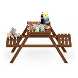 Furinno Kids Picnic Table and Chair Set FG18102