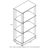 Furinno 4-Tier Storage Shelf 18062EX/BK