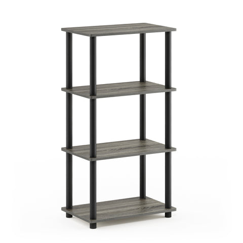 Furinno 4-Tier Storage Shelf 18062GYW/BK