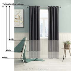 Furinno Blackout Curtain FC66001DBL