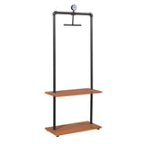 Furinno Garment Rack with Wood Shelves FIND03AX