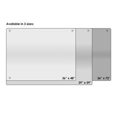 Furinno Glass Dry Erase Board with Marker Tray FGB3959W