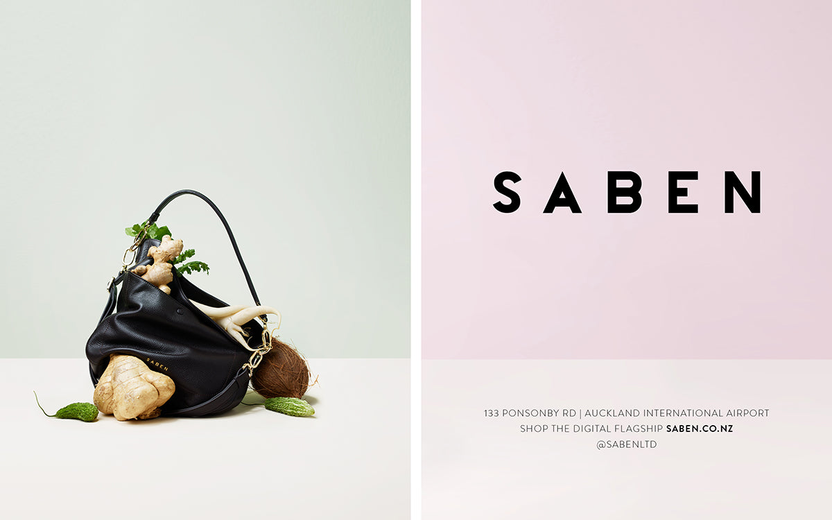 Saben AW20 Winter Garden campaign featuring Bex handbag in black styled by Karlya Smith and photographed by Belinda Merrie