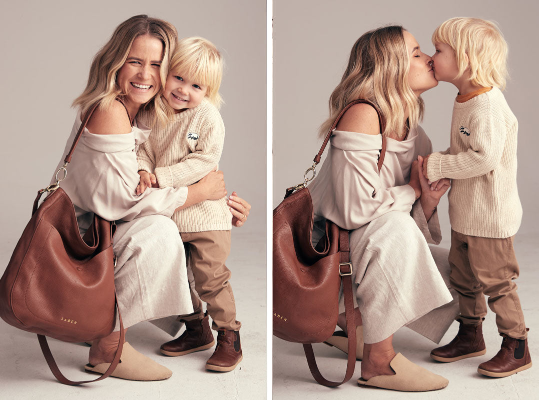 Saben Mothers Day Campaign featuring Abbylee Bonny and son Cas