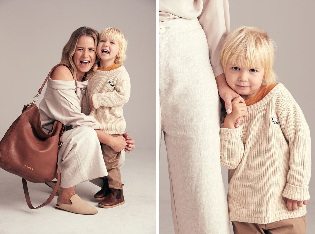 Abbylee bonny and son Cas for Saben Mothers Day campaign