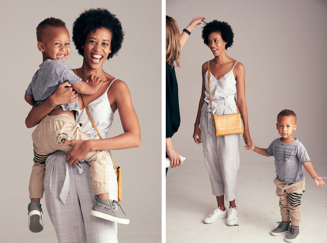 Alarice Stuart and son Eli for Saben Mothers Day campaign