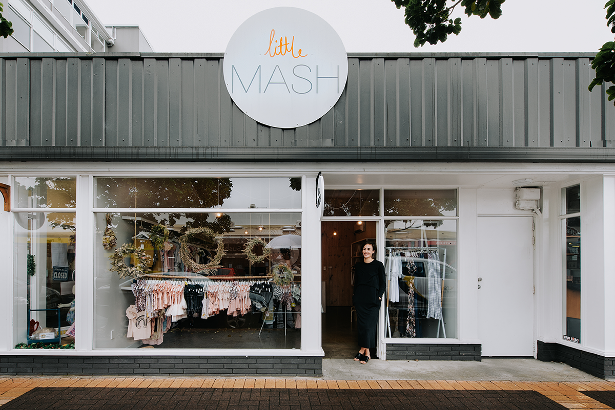 Saben stockists Little Mash Childrens Boutique in Hamilton photographed by Black Robin