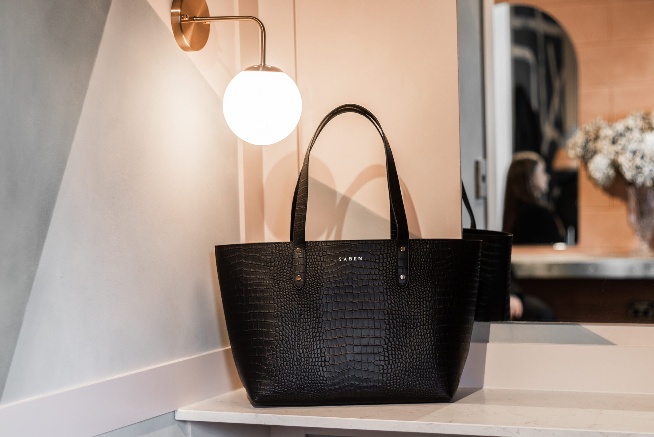 Saben Recycled Leather Kelly Tote at Inco Studios Ponsonby