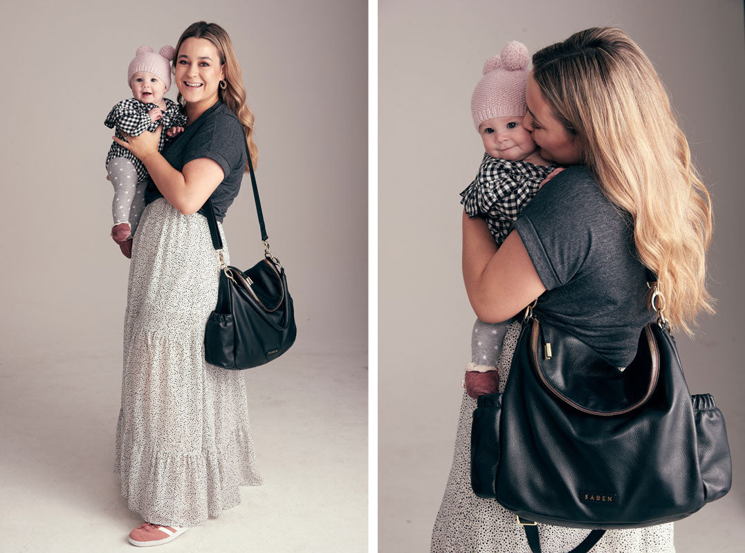 Fiona Wright with Daughter Billie for Saben Mother's Day campaign