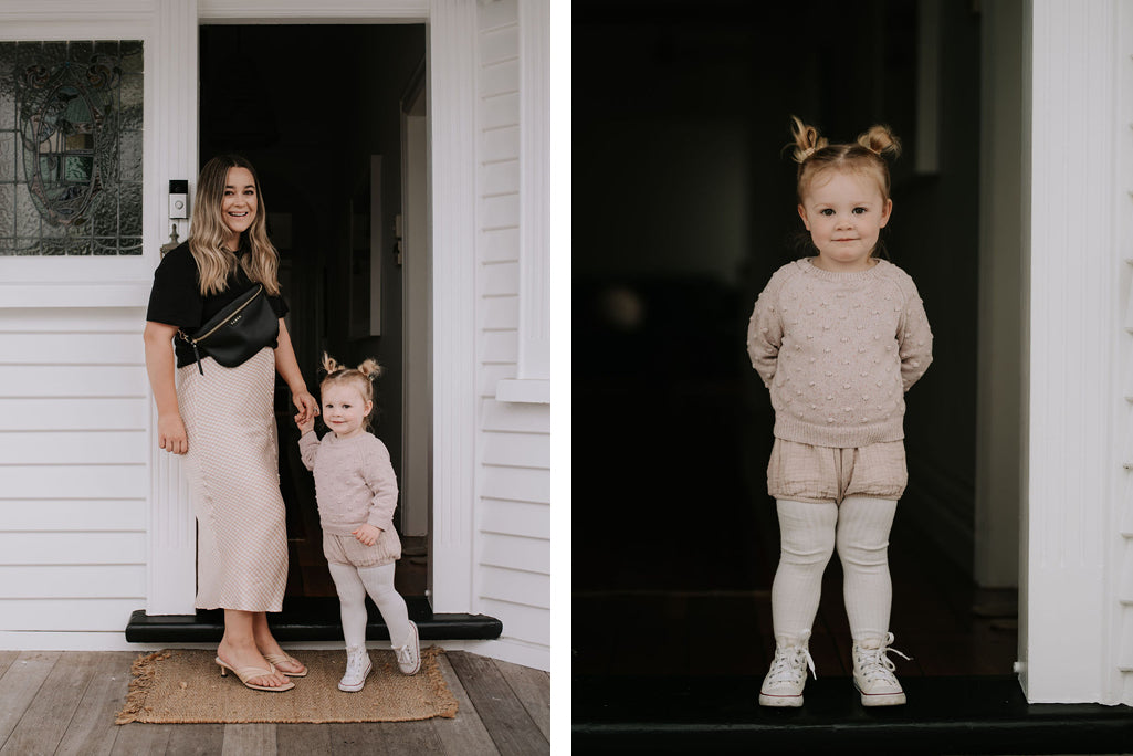 Fiona Goddard with her daughter Billie for Saben Mother's Day Project 2020 captured by Tash Stokes of Black Robin Photography