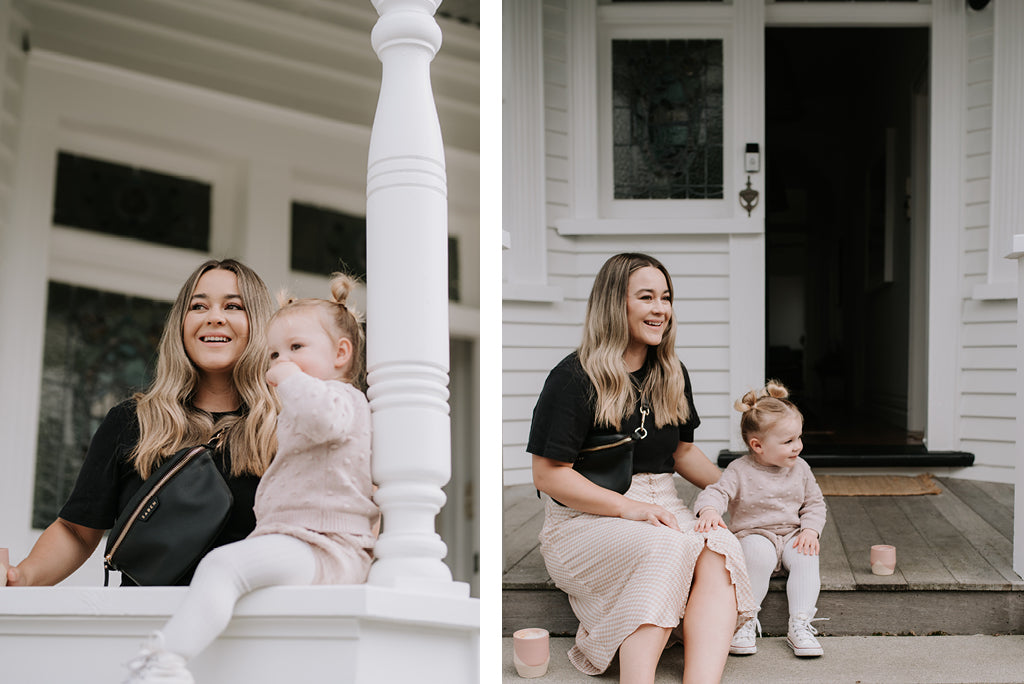 At home with Fiona Goddard and daughter Billie for Saben Mothers Day