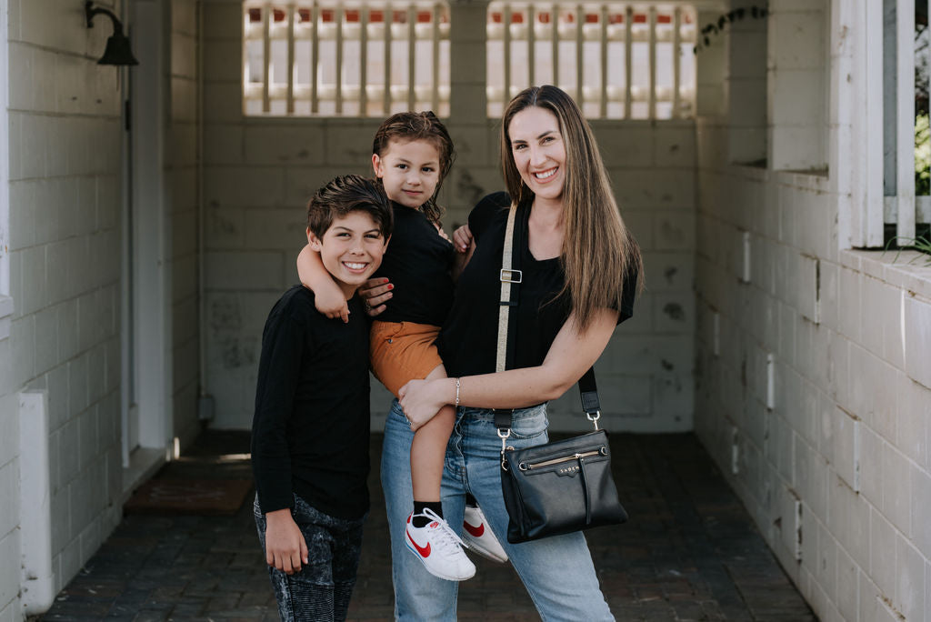 Jess Blair and her sons Taika and Harlem for the Saben Mothers Day Portrait Project
