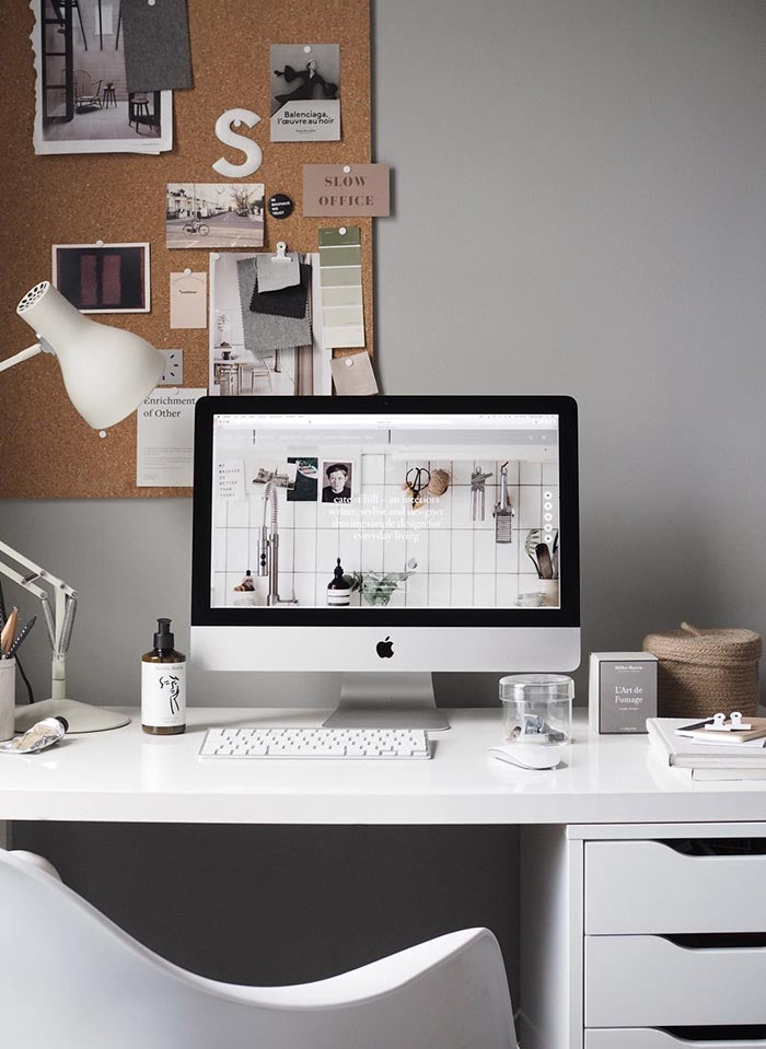 Saben Home Office inspo from Alana Broadhead Imagery via the designer and photographer Cate St Hill
