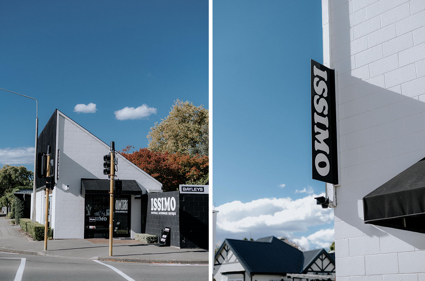 images of issimo shoes christchurch store from the outside showing window display