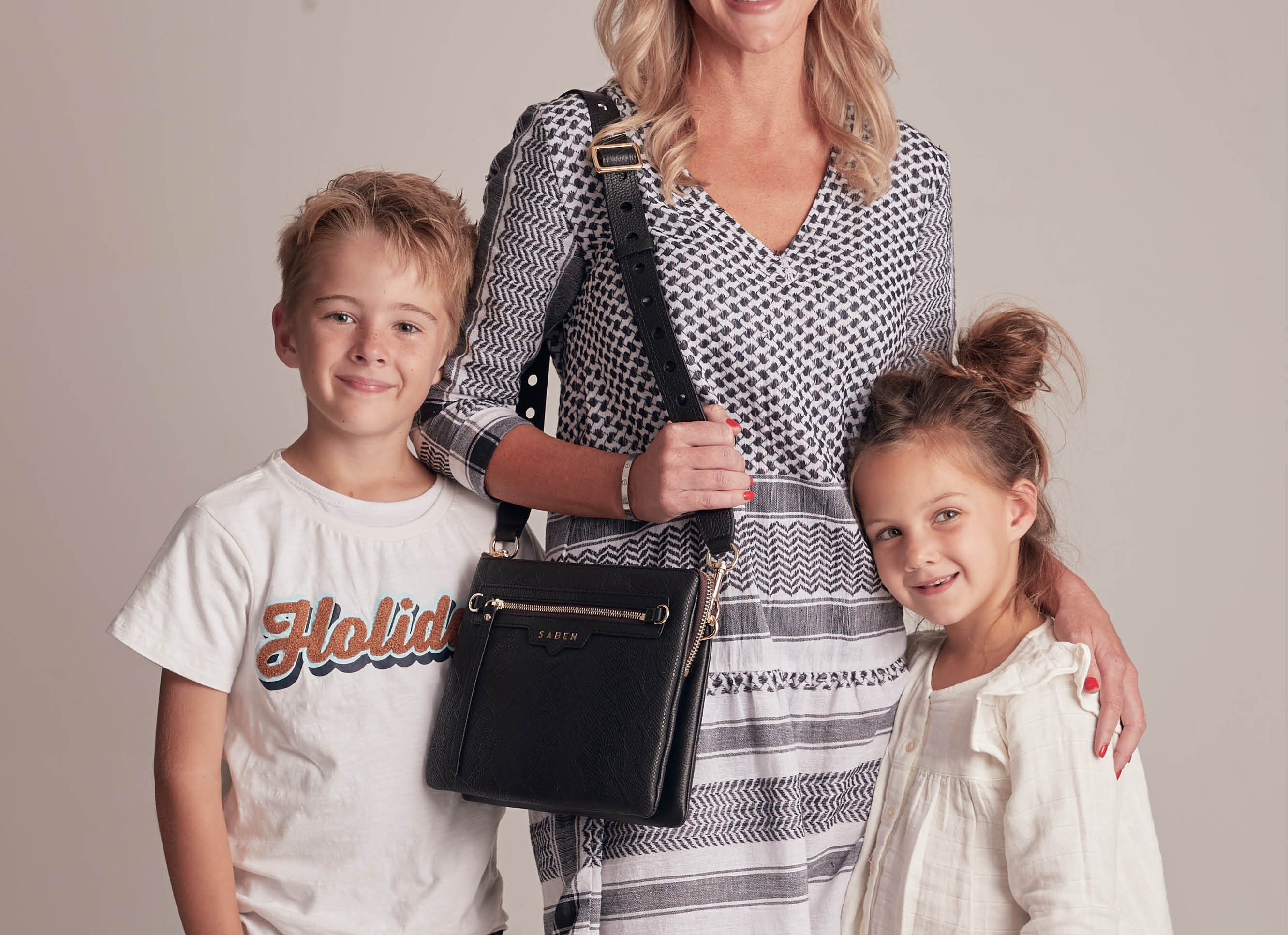 Kellie Pardoe and her children Jackson and Olivia