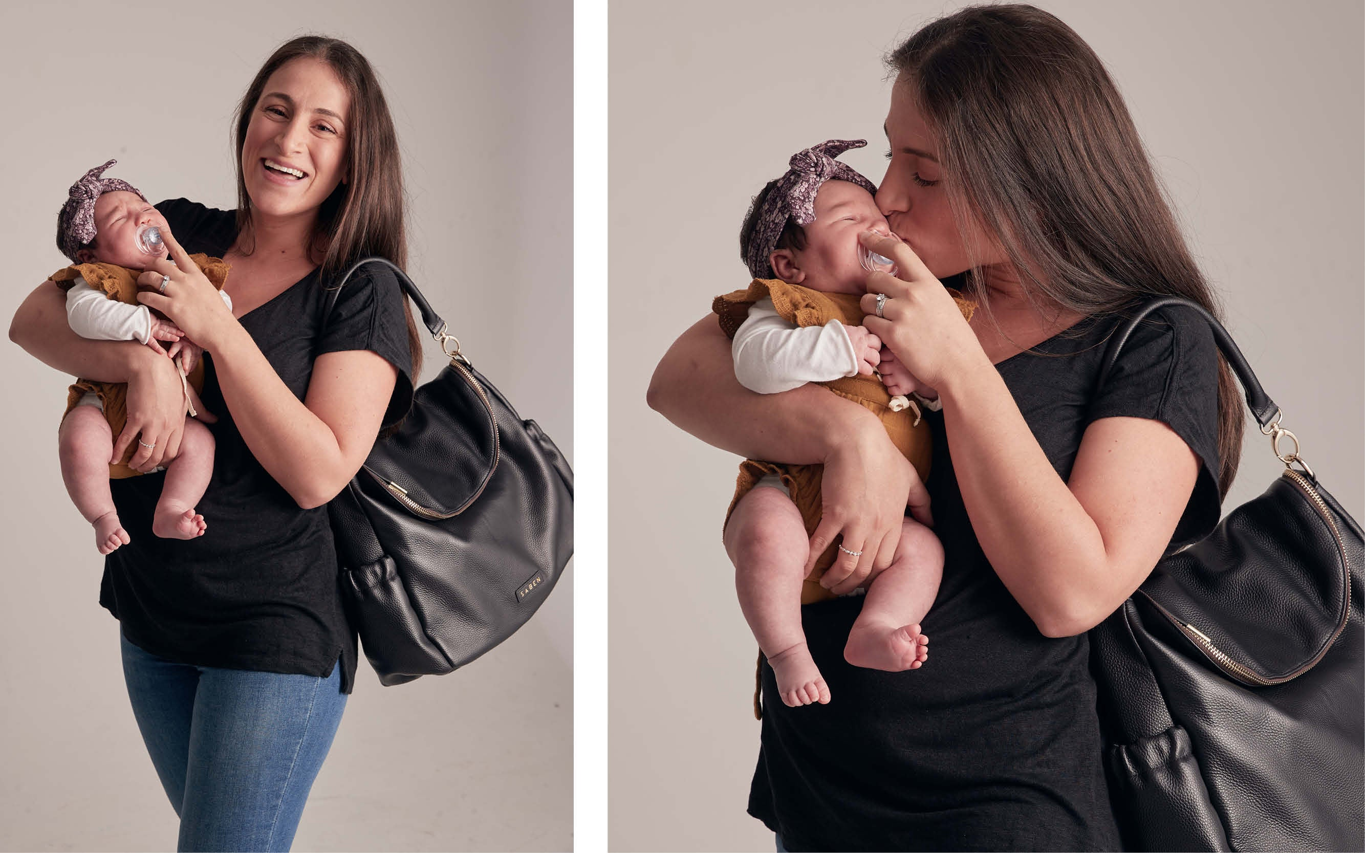 Rona Meadows with baby Mila for Saben MOthers Day Campaign