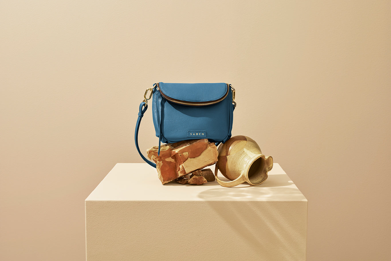 Saben SS20 Vessel collection Fifi handbag Aegean styled by karlya smith photographed by belinda merrie