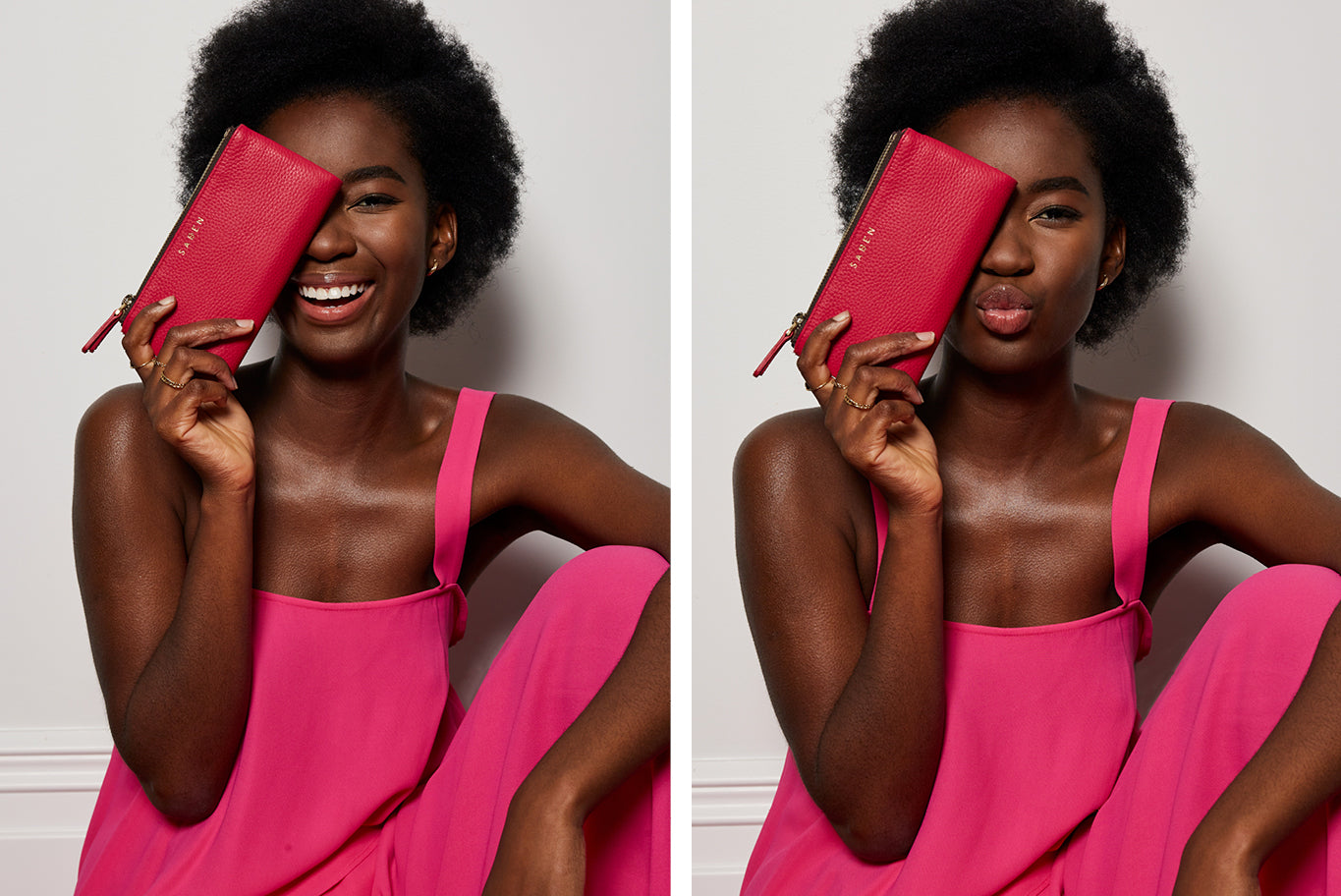 Saben Magenta Leather Wallets captured by White Mondays