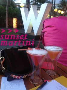 day two sunset martinis