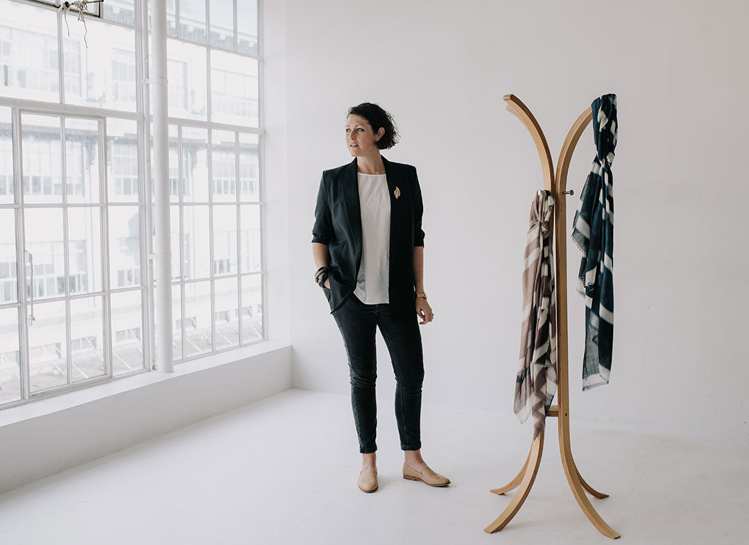 chats with lillie toogood from good&co about collaboration wtih saben handbag lucky winter scarves