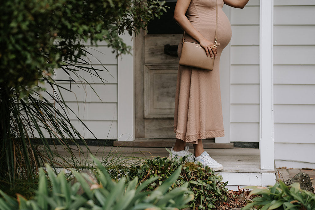 zeenat wilkinson wears saben big sis tilly for mothers day campaign made out of 100% leather designed in New Zealand