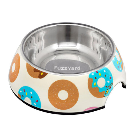 Fuzzyard Pet Bowl Go Nuts For Donuts
