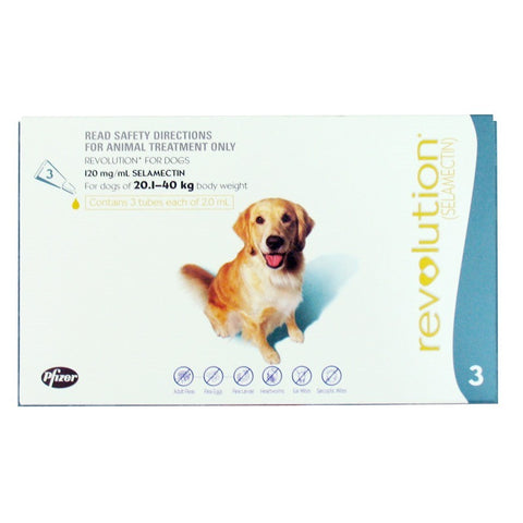 Revolution for Dogs 20.1 - 40kg 3pk