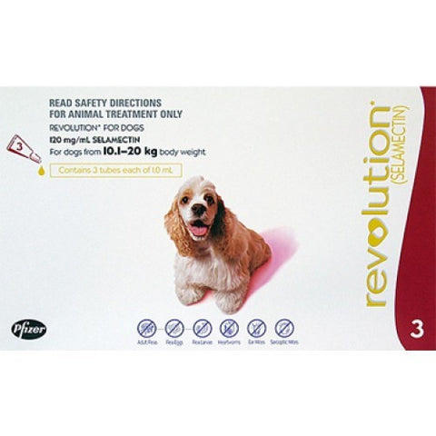 Revolution for Dogs 10.1 - 20kg 3pk