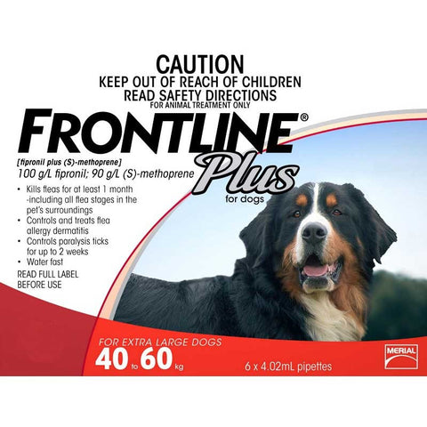 Frontline Plus for Dogs 40-60kg - 3 pack
