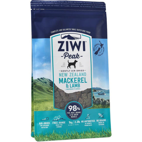 Ziwi Peak Air Dried Dog Food 1kg Mackerel & Lamb