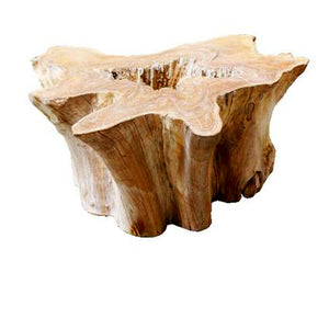 Old Teak Tree Slab Coffee Table