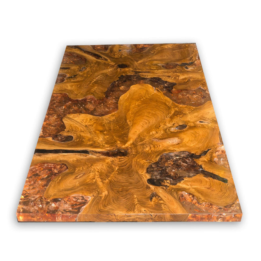Amber Teak Root and Resin Coffee Table CR-2042 by AIRE Furniture