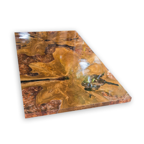 Amber Teak Root and Resin Coffee Table CR-2042