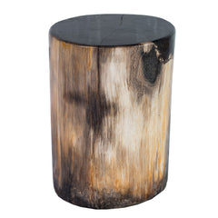 Hollywood Petrified Wood Stool by AIRE Furniture