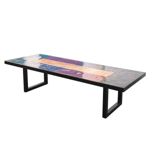 Large Metal Recycled Oil Drum Dining Room Table R-2000 by AIRE Furniture