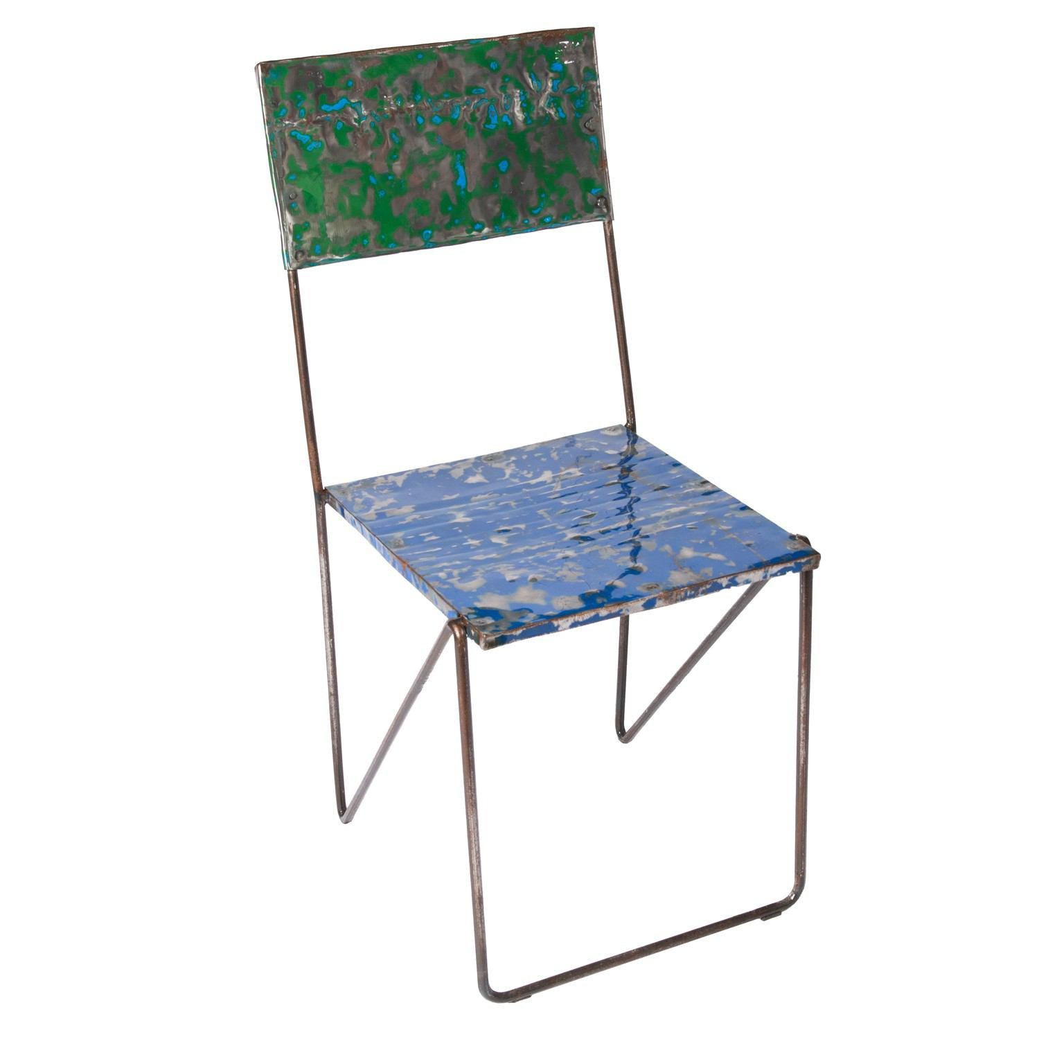 Metal Recycled Oil Drum Dining Chair R-1090 by AIRE Furniture