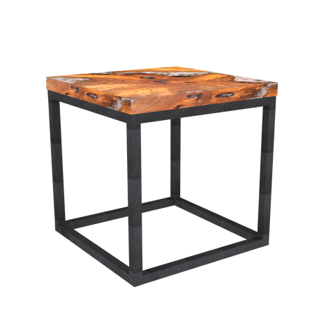 Teak Root and Resin Side Table CR-2021