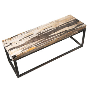 Petrified Wood West Village Coffee Table Bench by AIRE Furniture