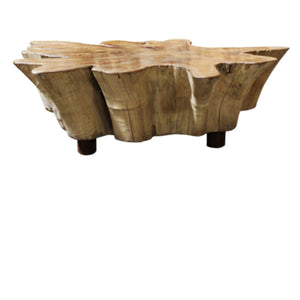 Antique Teak Thick Slab Coffee Table