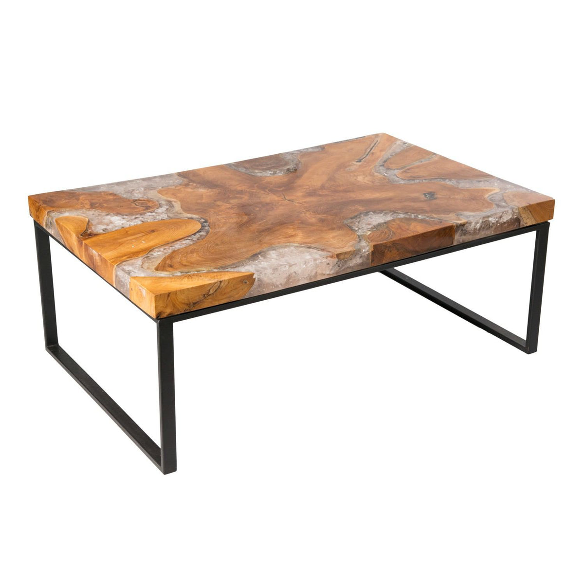 Vidaxl Coffee Table Teak Resin: Teak Root And Resin Wood Coffee Table CR-2050
