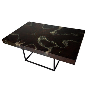 Teak Root and Resin Coffee Table with Burned Wood CR-2050 by AIRE Furniture
