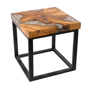Teak Root and Resin Side Table CR-2021 by AIRE Furniture