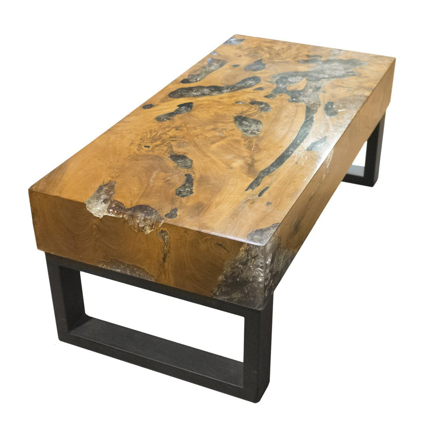 Thick Teak Root and Resin Table CR-2060 by AIRE Furniture