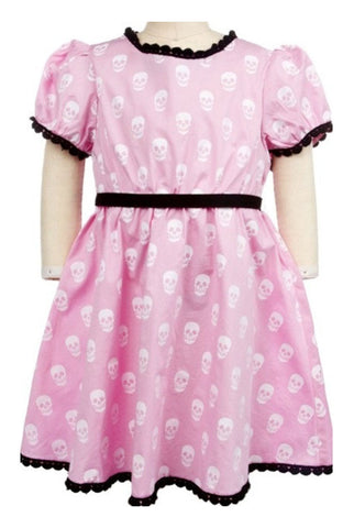 Mini skull kids dress