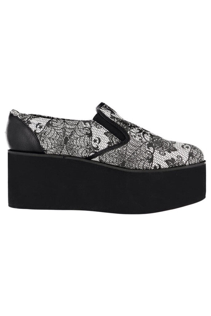 Midnight widow slip on creepers