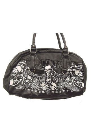 Bandana embossed black and white purse