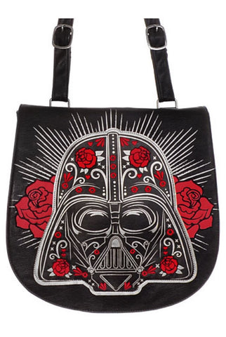 Darth vader sugar skull cross body bag